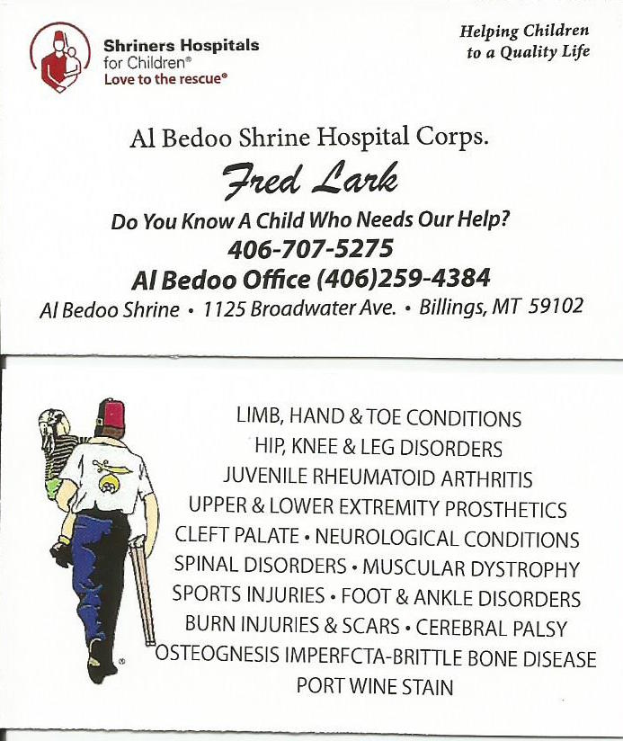 AL BEDOO SHRINE Business Card 11 26 12018